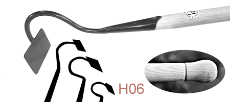 HO6 Short Swan-Necked Draw Hoe